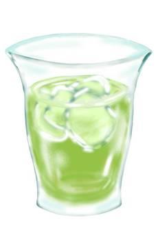 Cold green tea tea summer