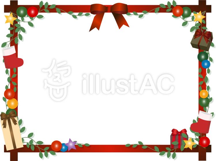 クリスマスフレームイラスト No 97236無料イラストならイラストac