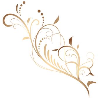 蔓草のフレーム2(銅)