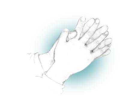 Hand to match (blue)