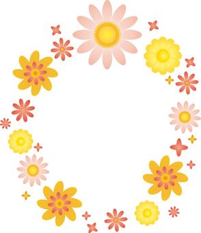 Flower 02 - Frame round 02