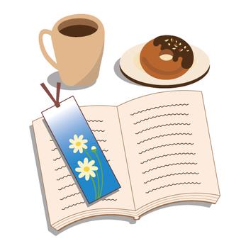 下午茶時間和閱讀圖像