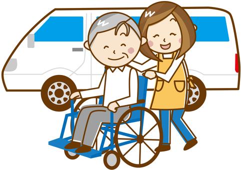 看護人繪製輪椅_ E 30
