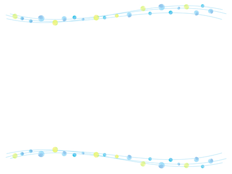 드롭과 곡선 라인의 프레임