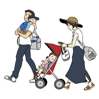 Family trip · Return home