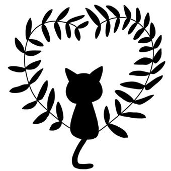 고양이와 하트의 잔디