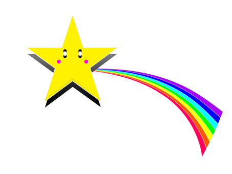 Star and rainbow
