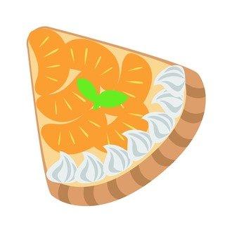 A lot of oranges tart 1 cut