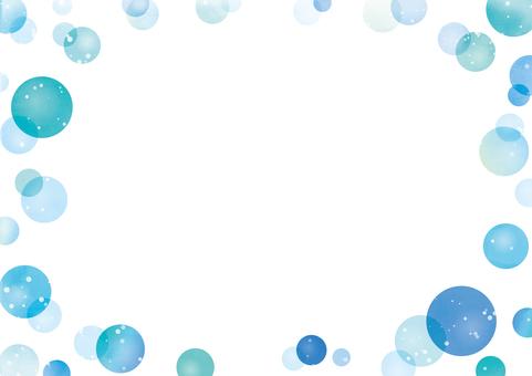 水玉のフレーム