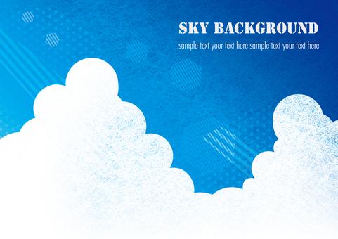 푸른 하늘 배경 일러스트 01