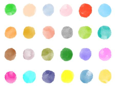 Watercolor color circle set