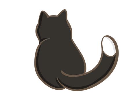 後視圖黑貓