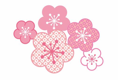 Japanese pattern plum pink
