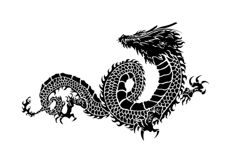 Dragon pattern illustration 02