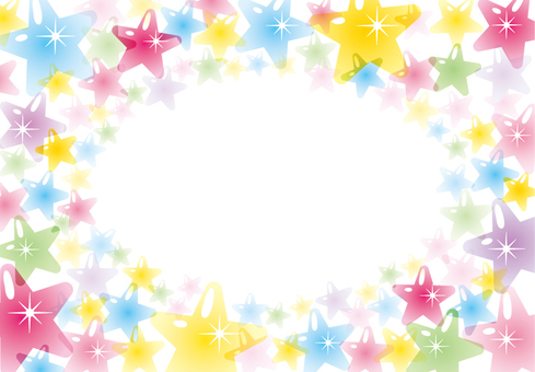 Star frame (colorful clear pastel)