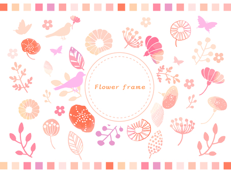Spring flowers hand-painted frame 3