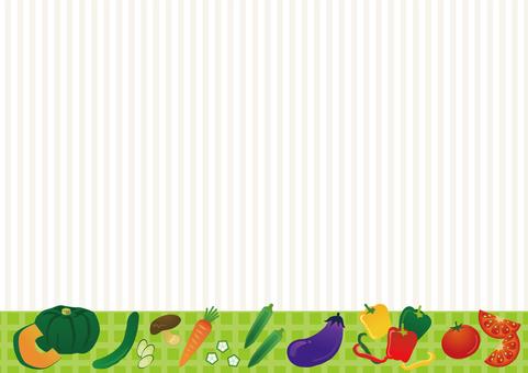 野菜のフレームイラスト