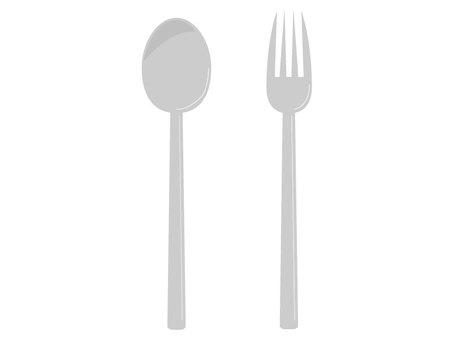 Spoon / fork (silver)