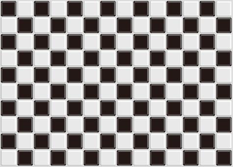 Checkered tile black and white