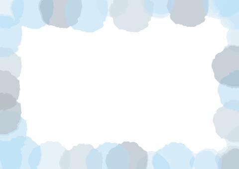 Watercolor-like frame (blue)