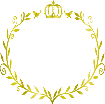 Crown and olive frame