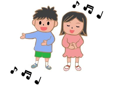 노래를 부르는 아이