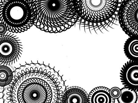 單色花卉圖案框架