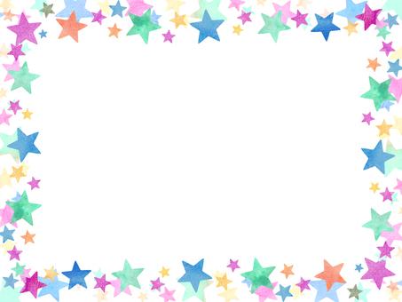 Watercolor star wallpaper ④