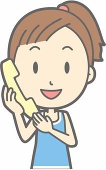 Sports female b - Telephone - Bust