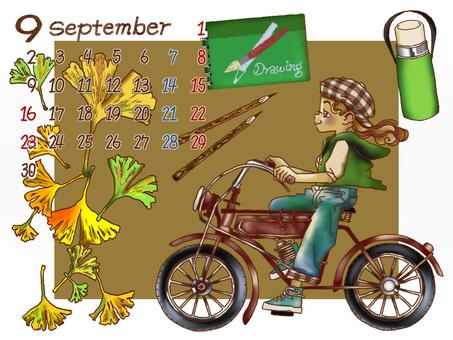 September calendar sketch