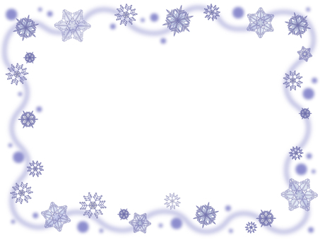 Snow crystal frame 4