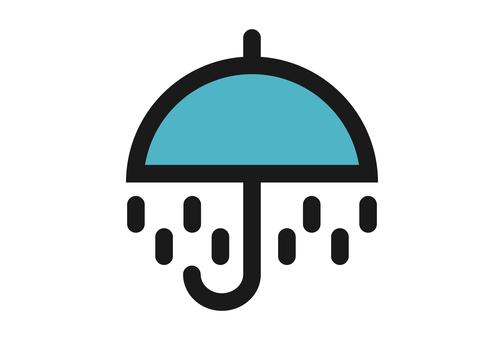 Rain symbol weather icon