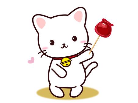 고양이 씨 (사과 사탕)
