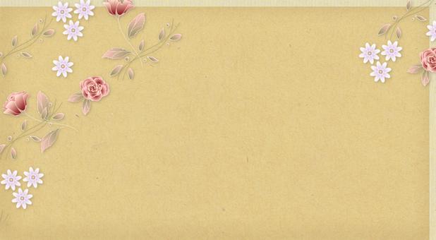 Message Card Floral Rose C