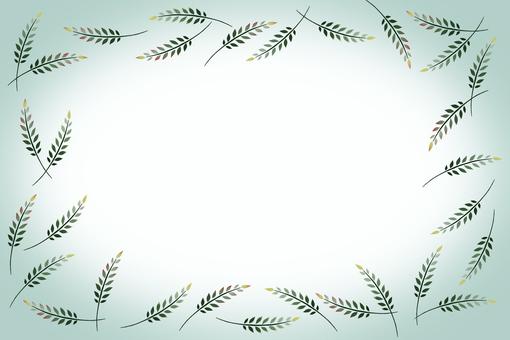 葉子框架綠色