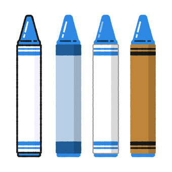 Hand-drawn wind crayon blue
