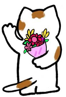 Cat rear view bouquet