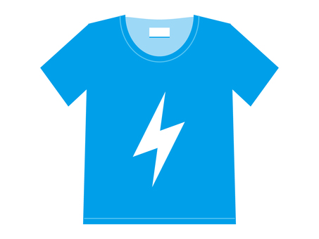 T-shirt Cyan