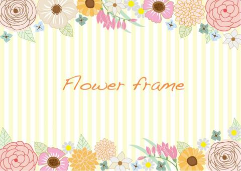 Flower frame Northern Europe taste
