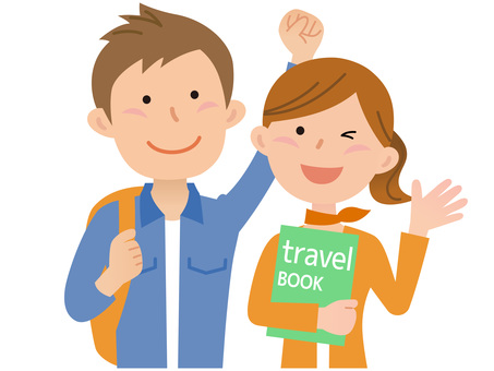 60312. Travel, couple, upper body