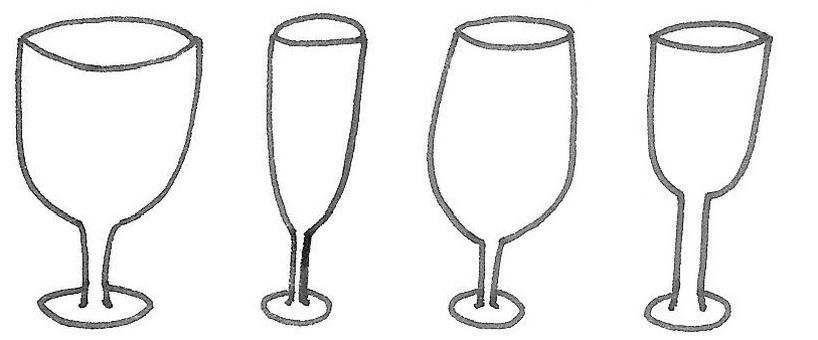ワイングラス酒杯