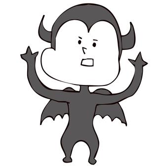 両手を上げて威嚇する悪魔