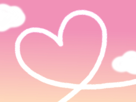 Heart contrail frame border pink