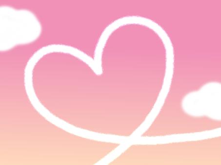 하트의 비행운 프레임 프레임 핑크
