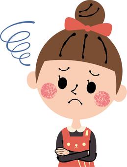 Worried troubled girls child upper body