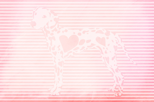 Heart pattern Dalmatian on pink craft paper