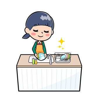 Student Blazer Female dish Dishwashing