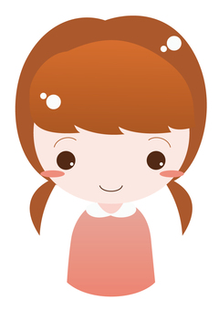 Girl with pigtails (burning)