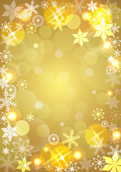 Winter background gold ☆ vertical