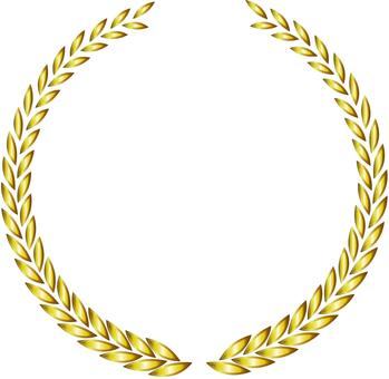 Metallic laurel frame gold